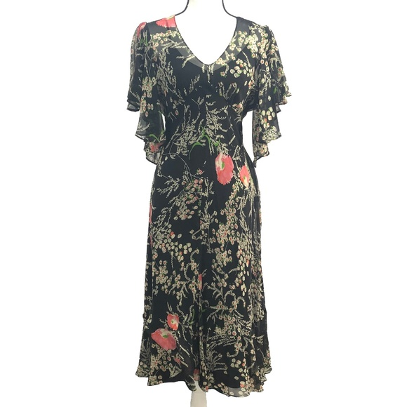 7f8ff889e136 Anthropologie Dresses & Skirts - Anthro Girls From Savoy Flori Silk Floral  Maxi EUC
